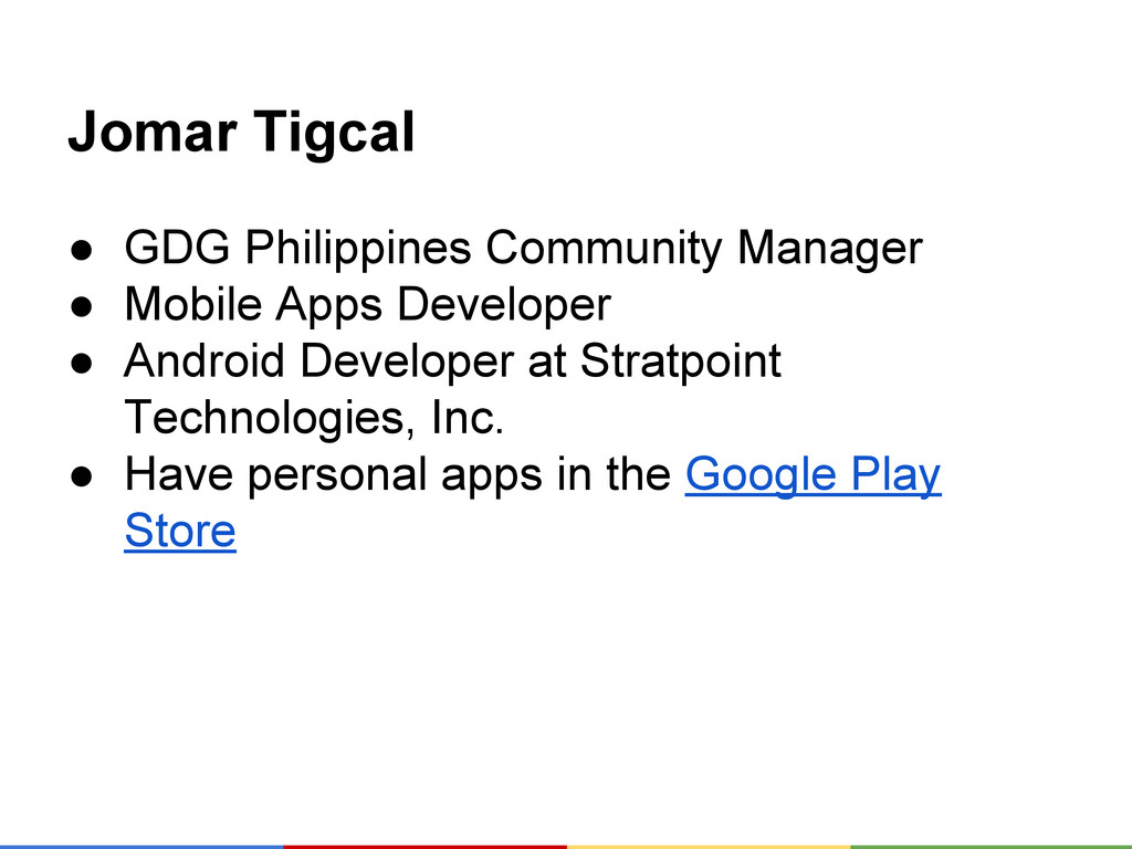 Jomar Tigcal ● GDG Philippines Community Manage...