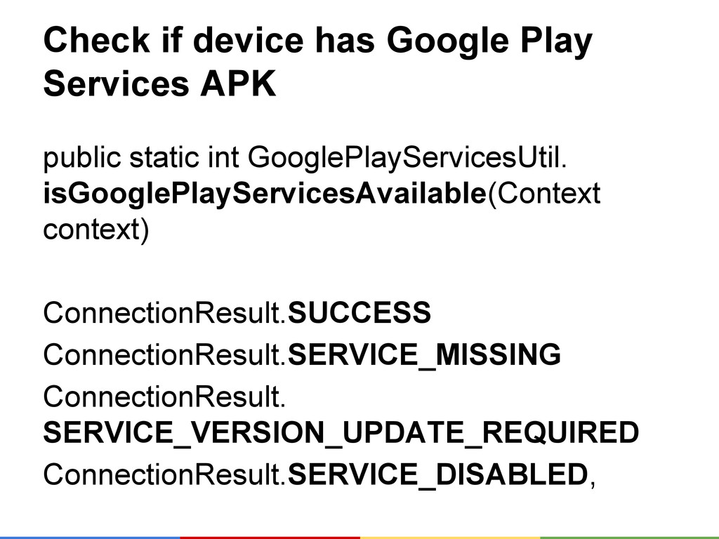Check if device has Google Play Services APK pu...