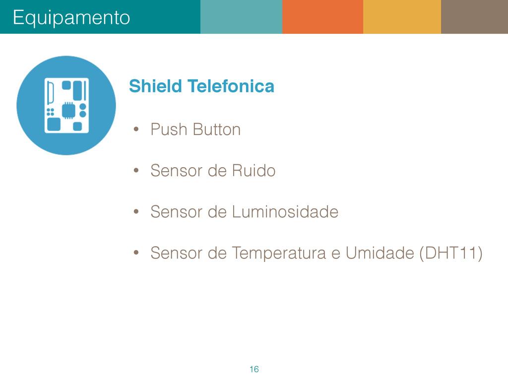 Equipamento 16 Shield Telefonica • Push Button ...