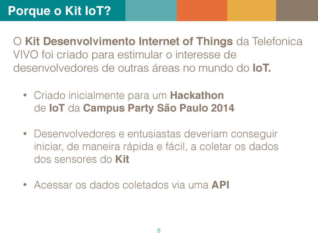 Porque o Kit IoT? 5 O Kit Desenvolvimento Inter...