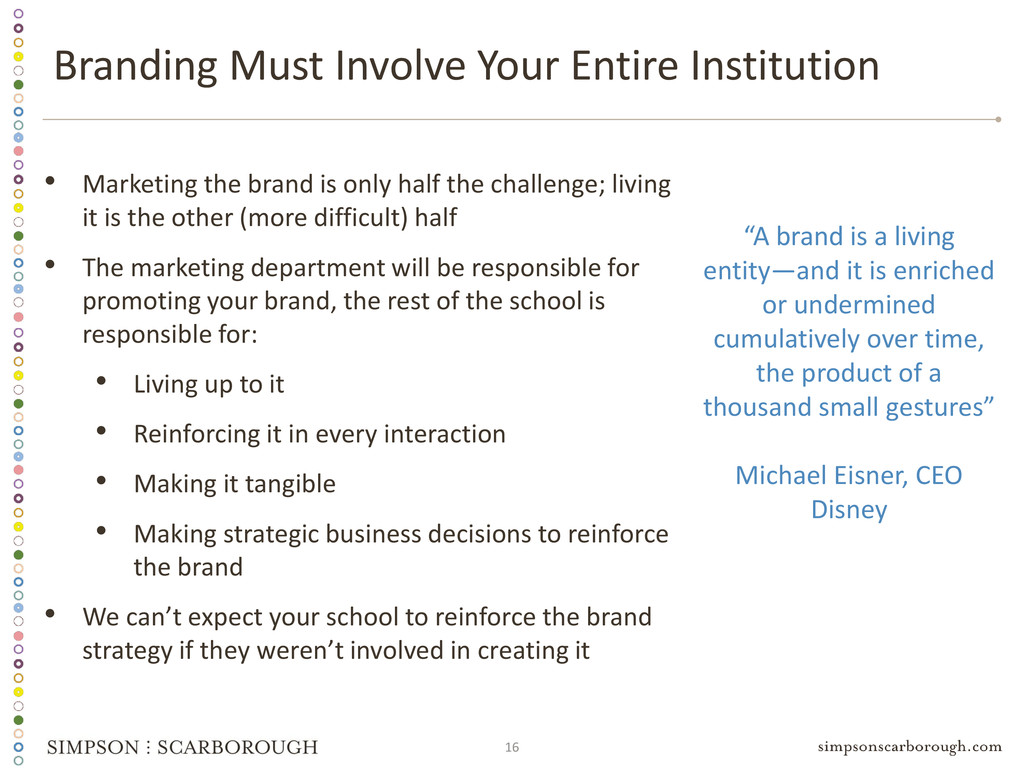 16 Branding Must Involve Your Entire Institutio...