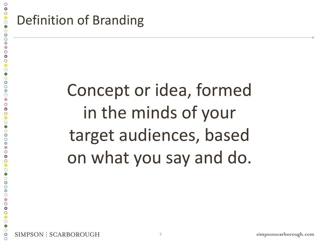 7 Concept or idea, formed in the minds of your ...