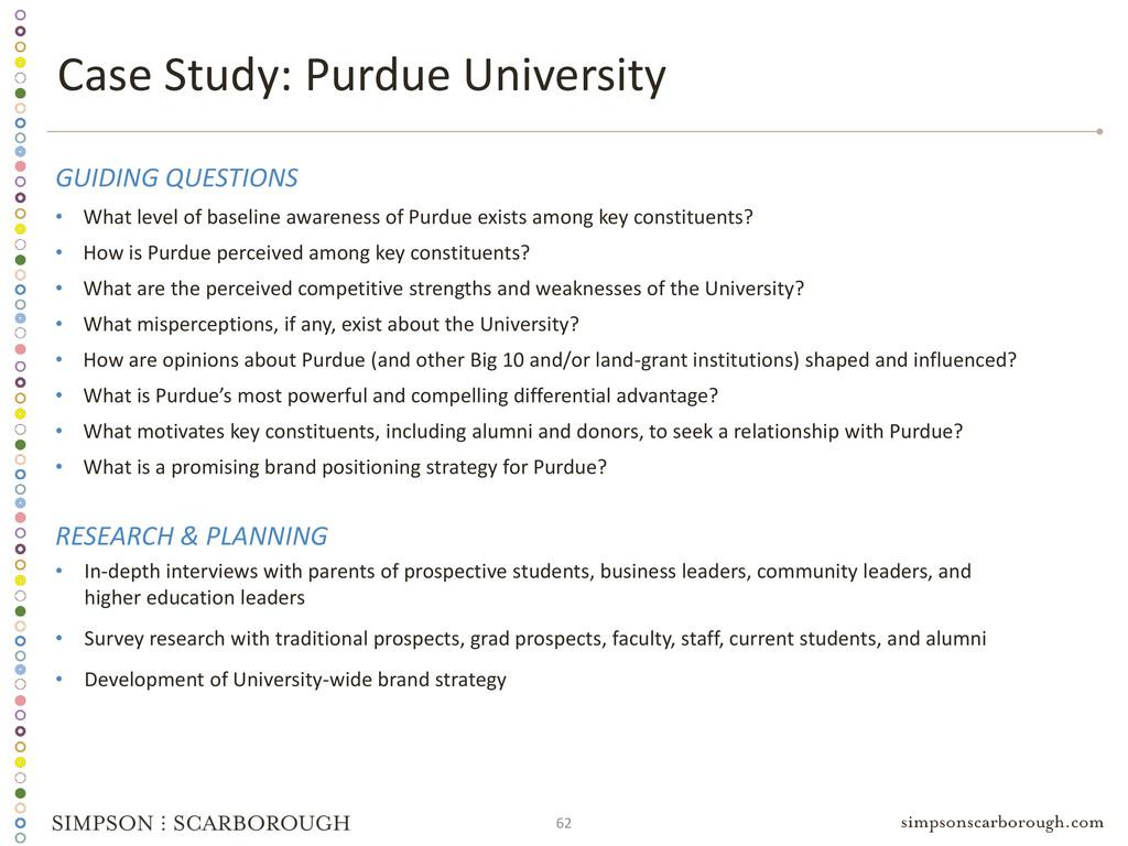 62 Case Study: Purdue University GUIDING QUESTI...