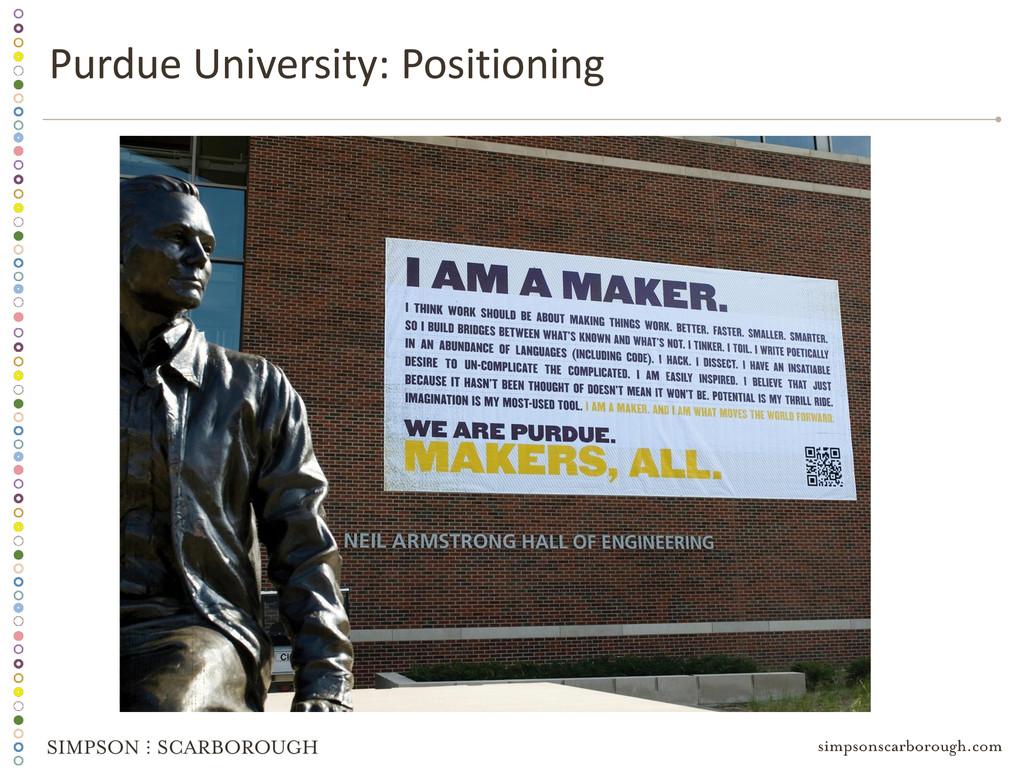 Purdue University: Positioning