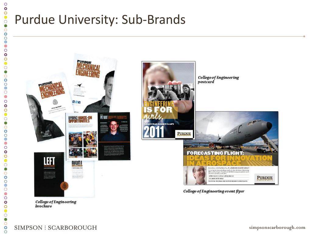 Purdue University: Sub-Brands