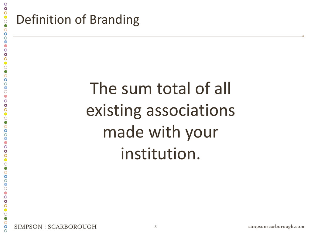 8 The sum total of all existing associations ma...
