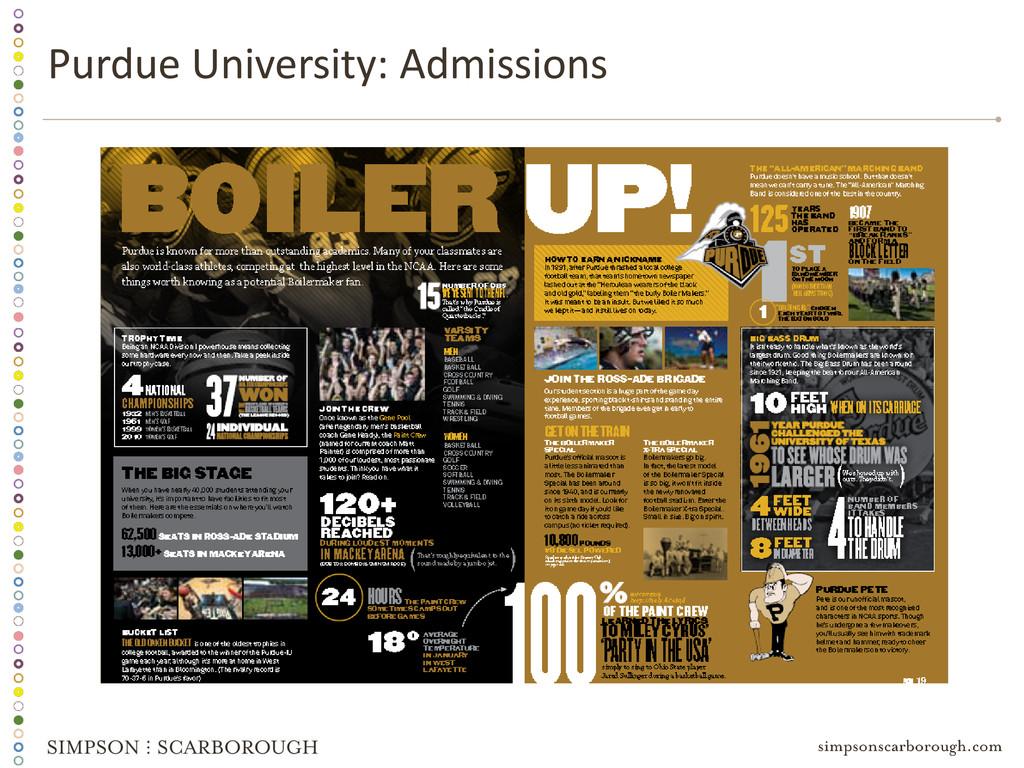 Purdue University: Admissions