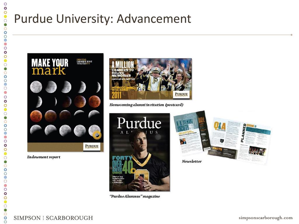 Purdue University: Advancement