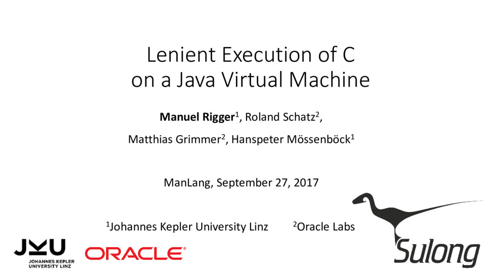 Lenient Execution of C on a Java Virtual Machin...