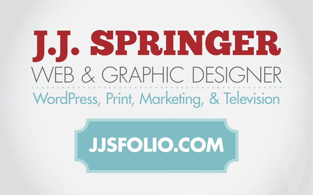 J.J. SPRINGER WEB & GRAPHIC DESIGNER WordPress,...