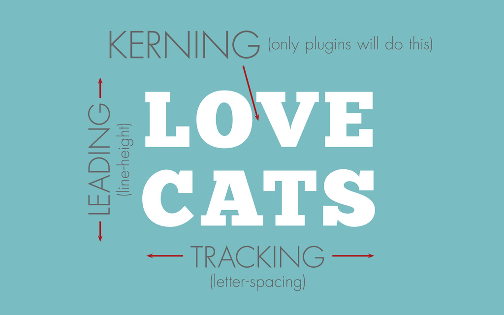LOVE CATS KERNING TRACKING (letter-spacing) LEA...