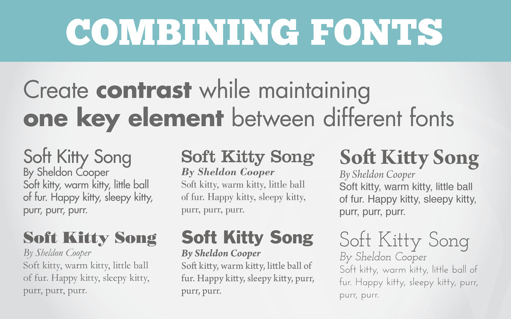 COMBINING FONTS Create contrast while maintaini...