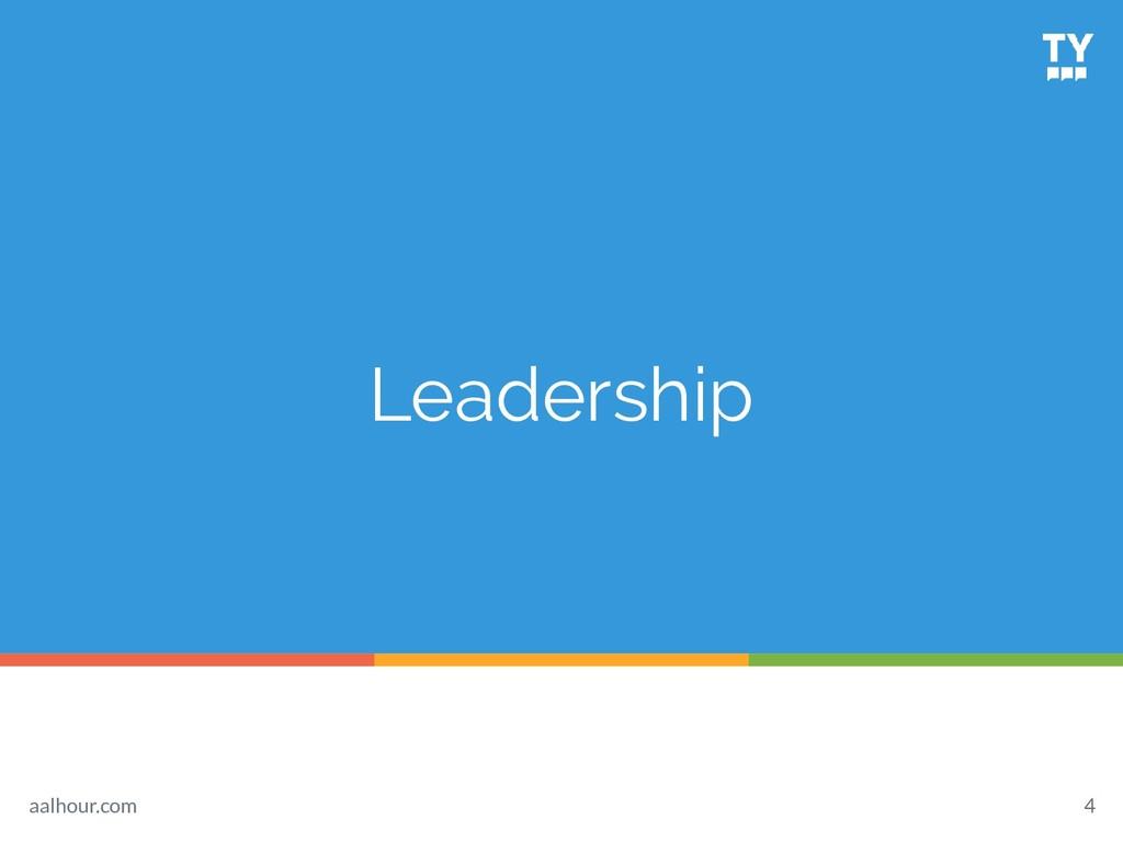 Leadership 4 aalhour.com