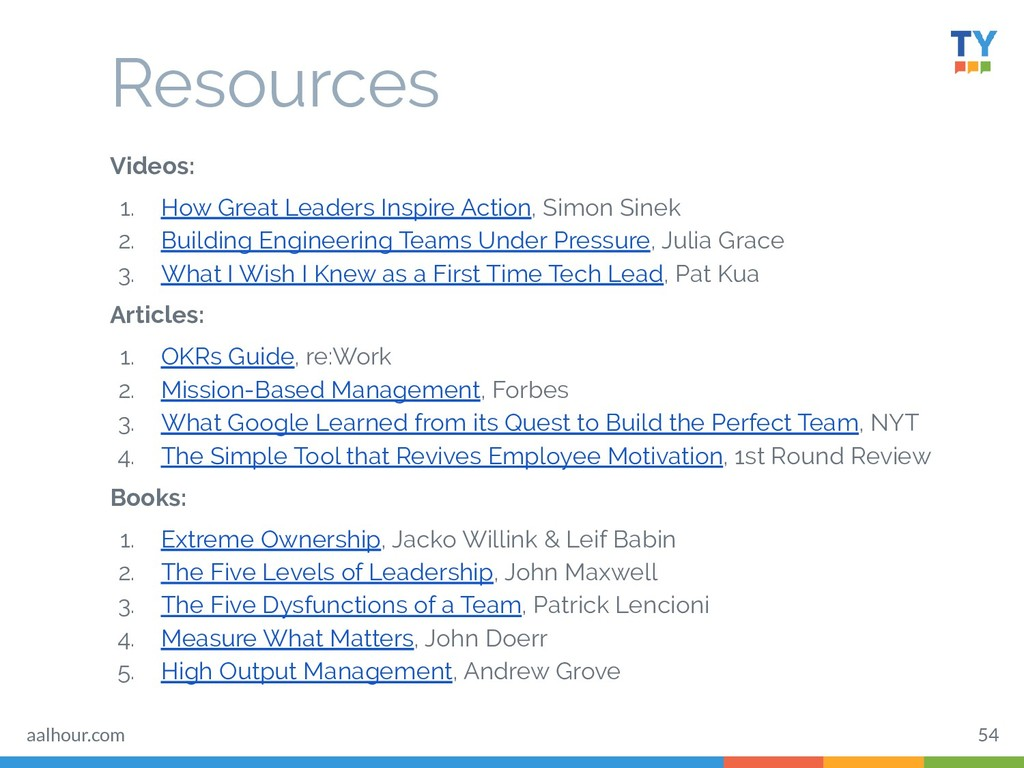 Resources Videos: 1. How Great Leaders Inspire ...