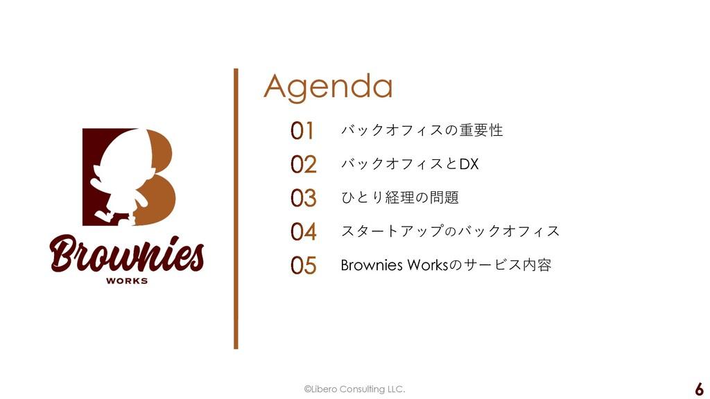 Agenda ©Libero Consulting LLC. 6 バックオフィスの重要性 バッ...
