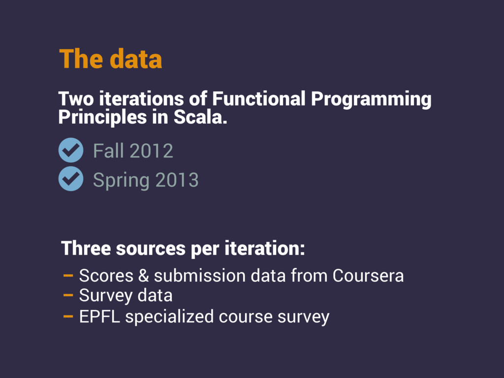 The data Two iterations of Functional Programmi...