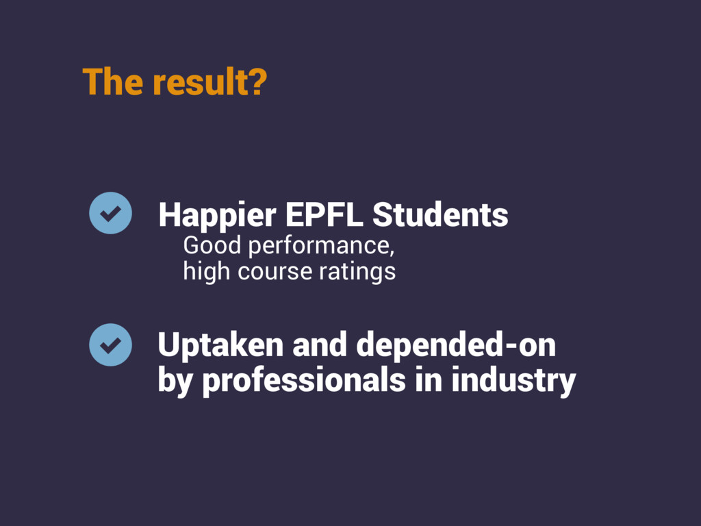 The result? Happier EPFL Students Uptaken and d...