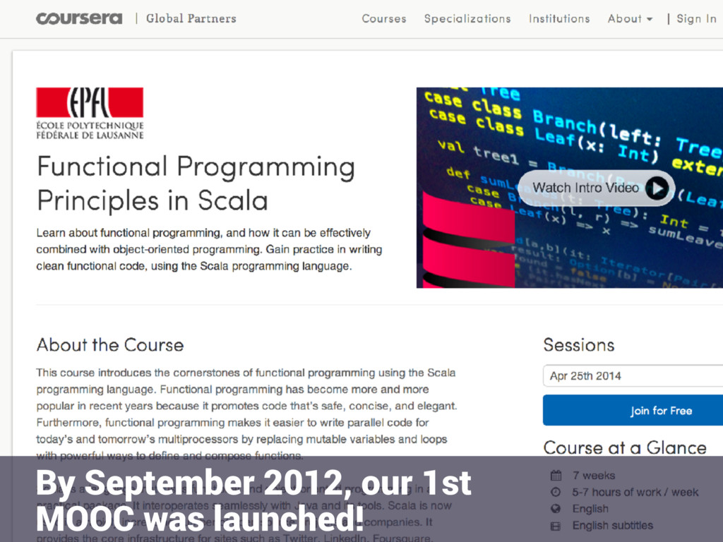 • sdf By September 2012, our 1st MOOC was launc...