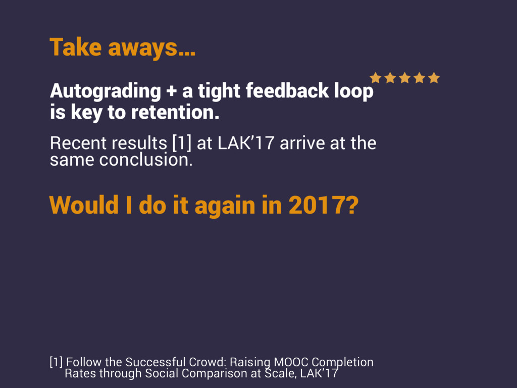 Would I do it again in 2017? Take aways… Autogr...