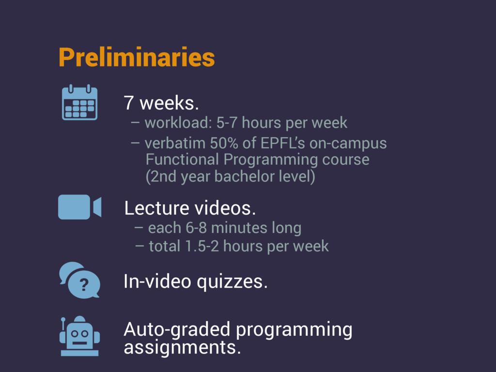 Lecture videos. In-video quizzes. Auto-graded p...