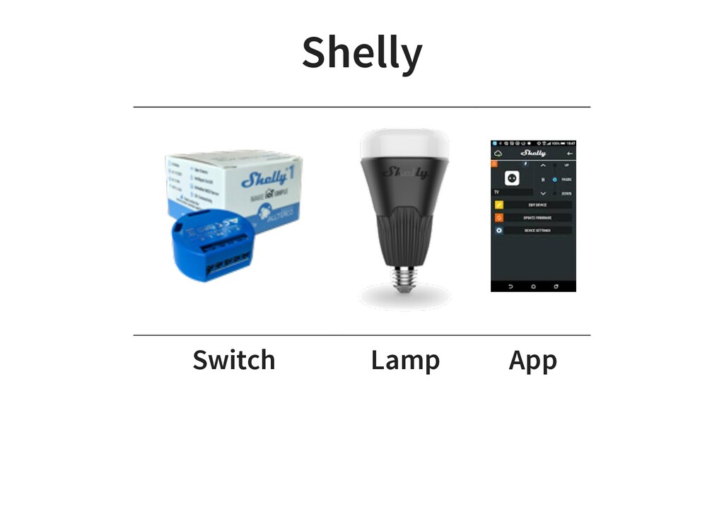 Shelly Switch Lamp App