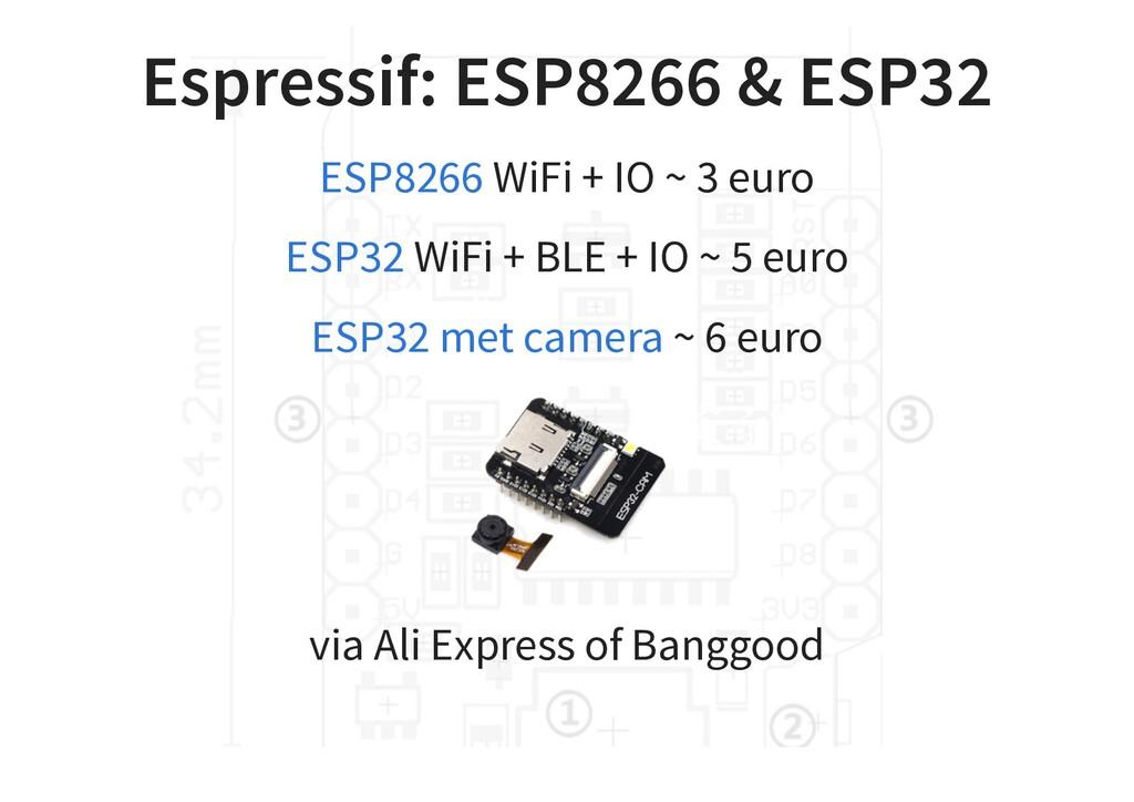 Espressif: ESP8266 & ESP32 WiFi + IO ~ 3 euro W...