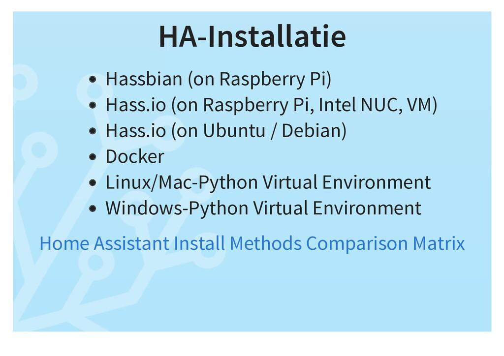 HA-Installatie Hassbian (on Raspberry Pi) Hass....