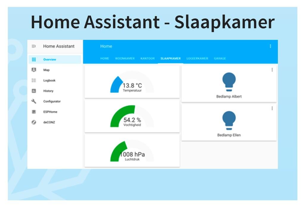 Home Assistant - Slaapkamer