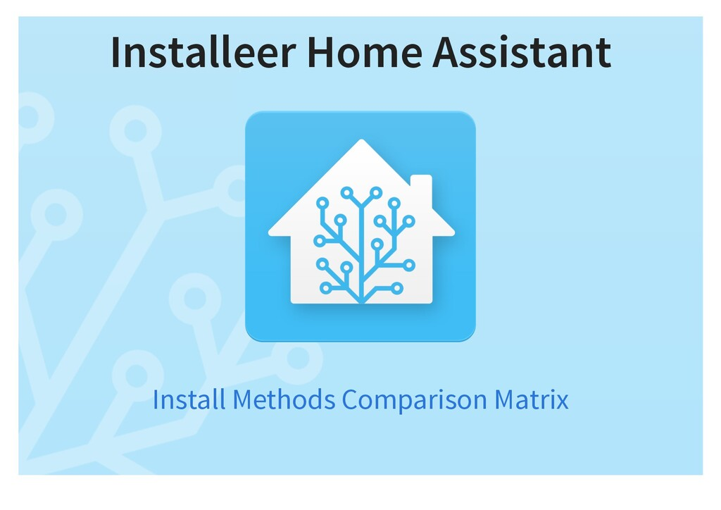 Installeer Home Assistant Install Methods Compa...