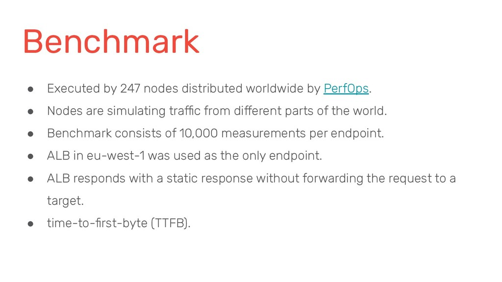Benchmark ● Executed by 247 nodes distributed w...