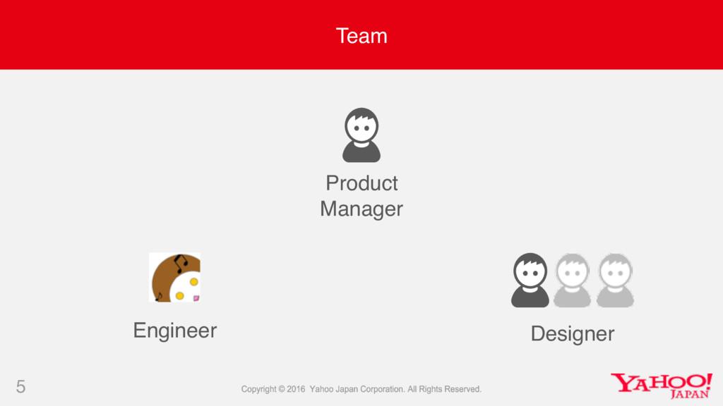 Team 5 Product Manager Designer Engineer