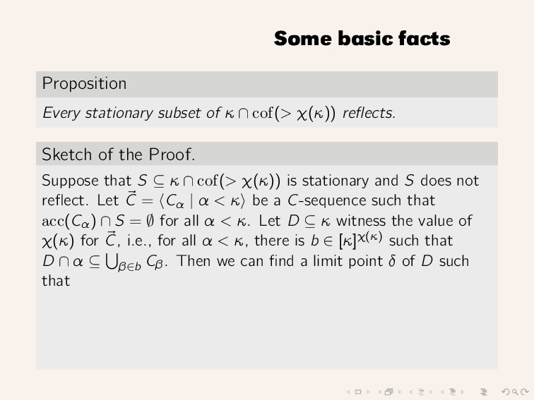 Some basic facts Proposition Every stationary s...
