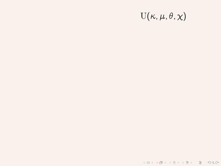 U(κ, µ, θ, χ)