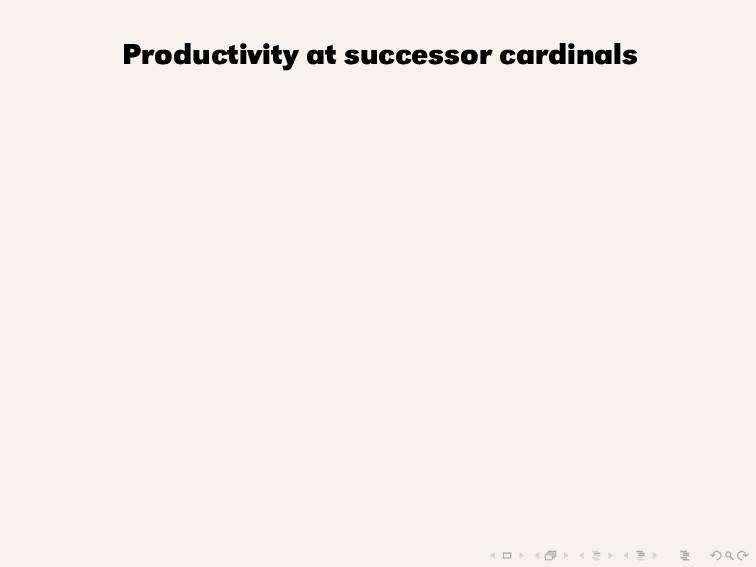 Productivity at successor cardinals