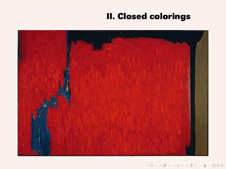 II. Closed colorings