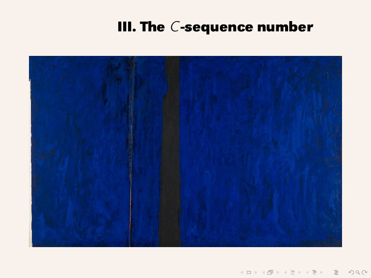 III. The C-sequence number