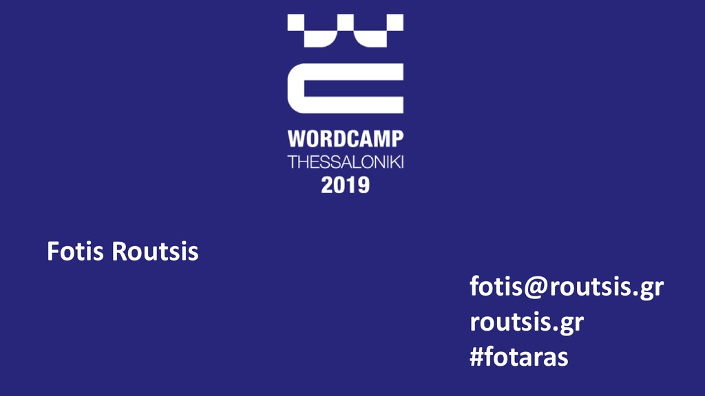 Fotis Routsis fotis@routsis.gr routsis.gr #fota...