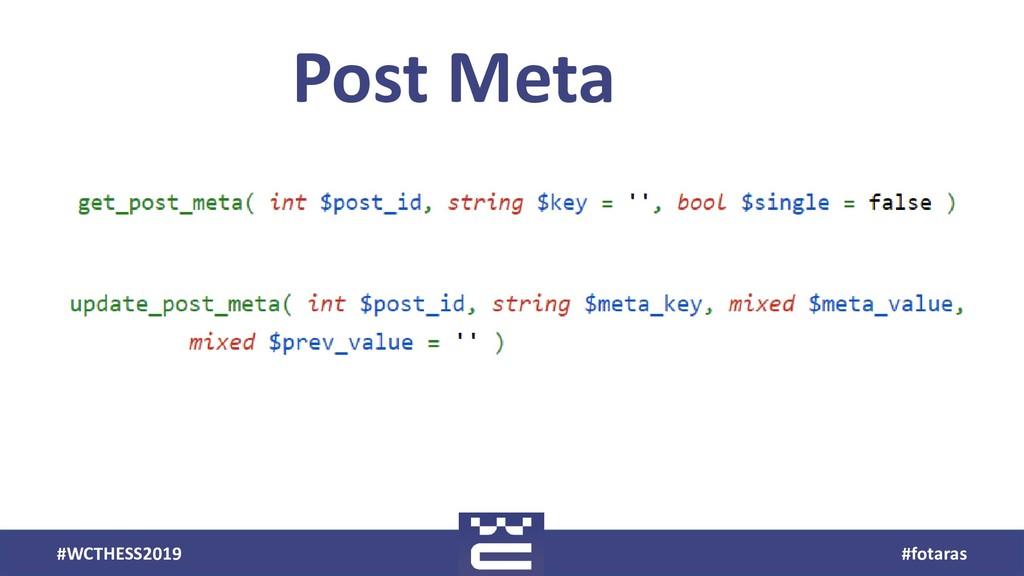 #WCTHESS2019 #fotaras Post Meta