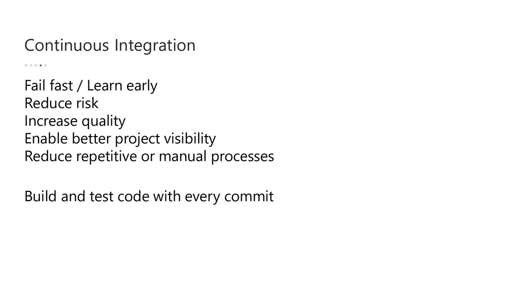 Continuous Integration Build and test code with...