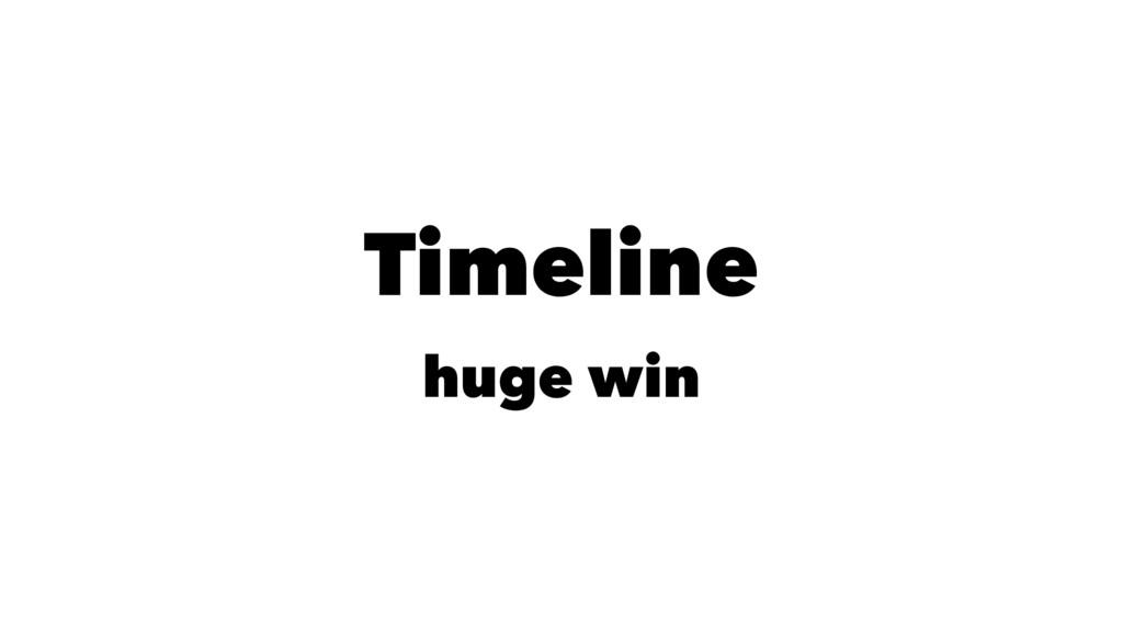 Timeline huge win