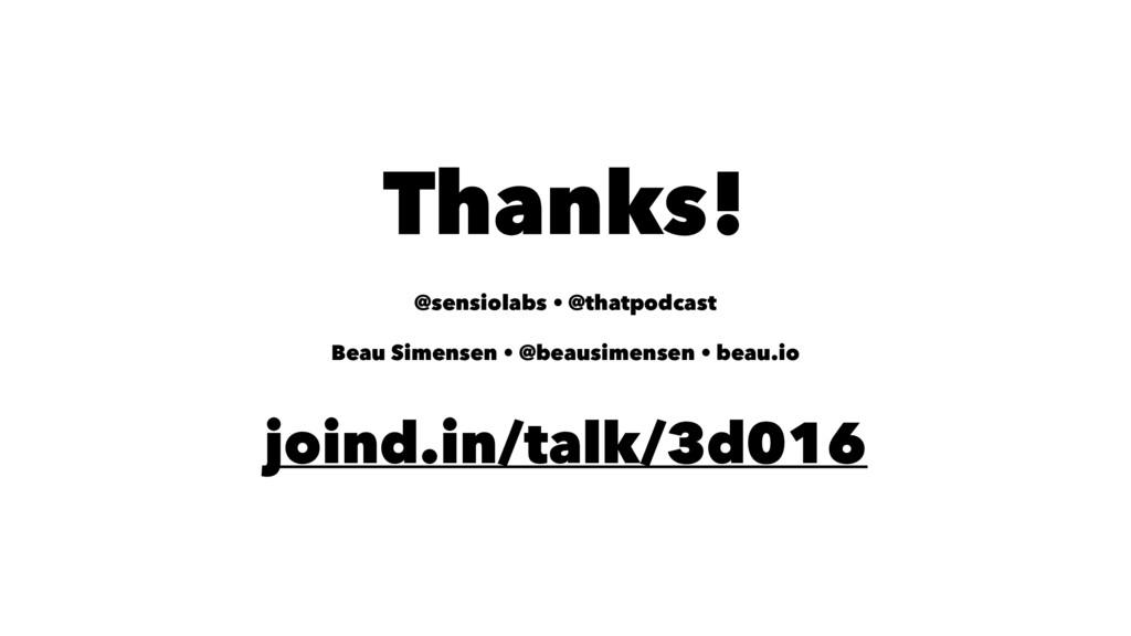 Thanks! @sensiolabs • @thatpodcast Beau Simense...