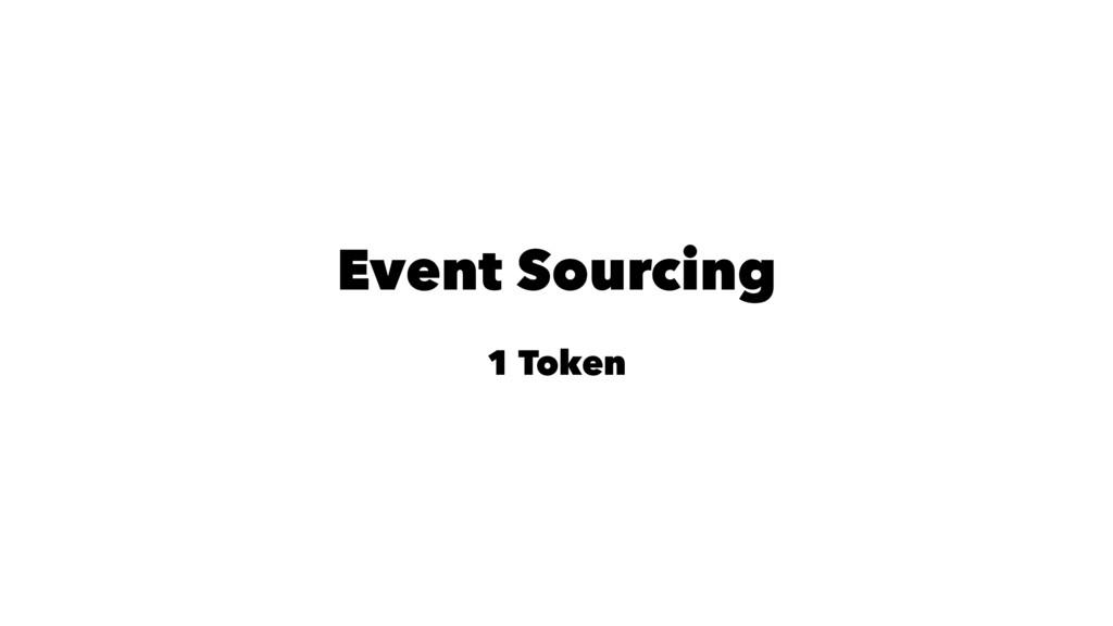 Event Sourcing 1 Token
