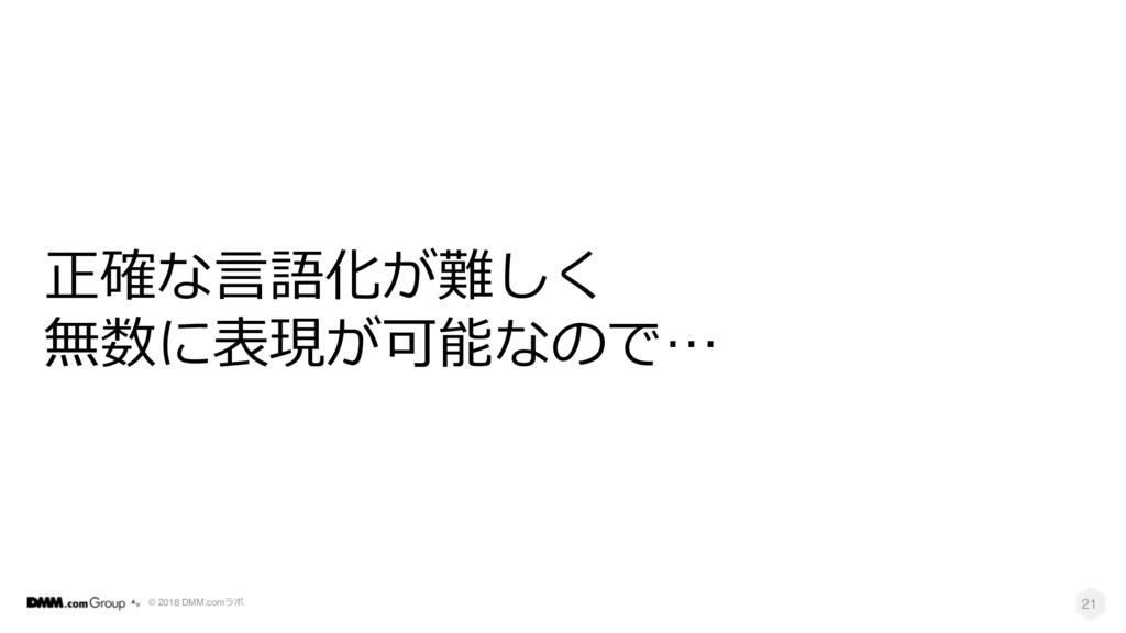 © 2018 DMM.com  21