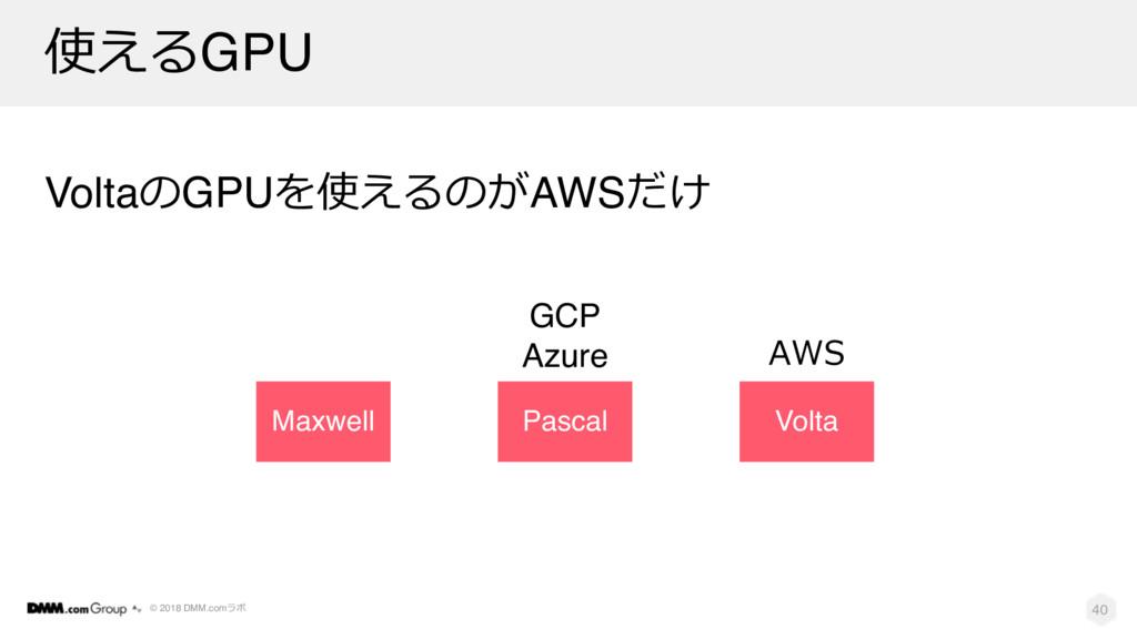 © 2018 DMM.com  GPU VoltaGPU  AWS 40...