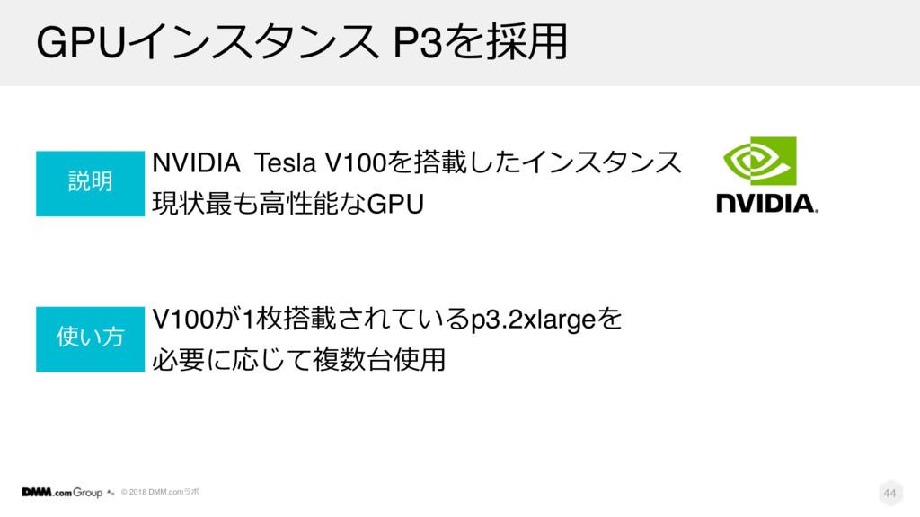 © 2018 DMM.com GPU P3$ NVIDIA Tesla V...