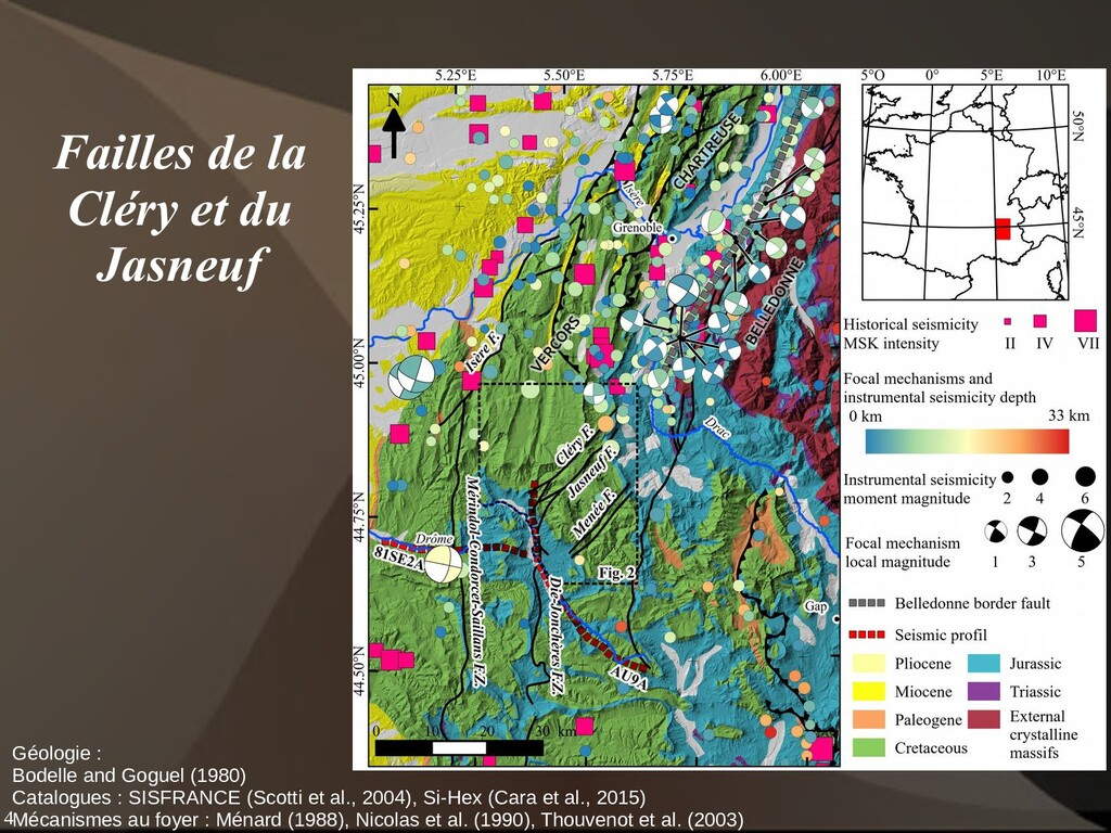4 Géologie : Bodelle and Goguel (1980) Catalogu...