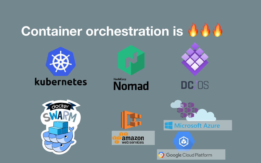 Container orchestration is