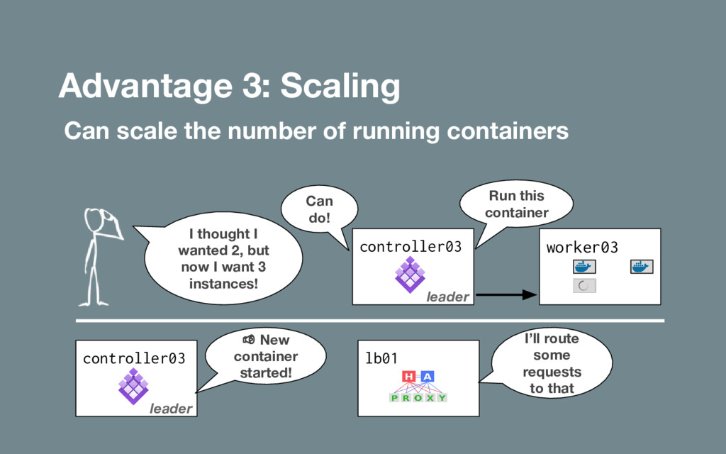 Advantage 3: Scaling Can scale the number of ru...
