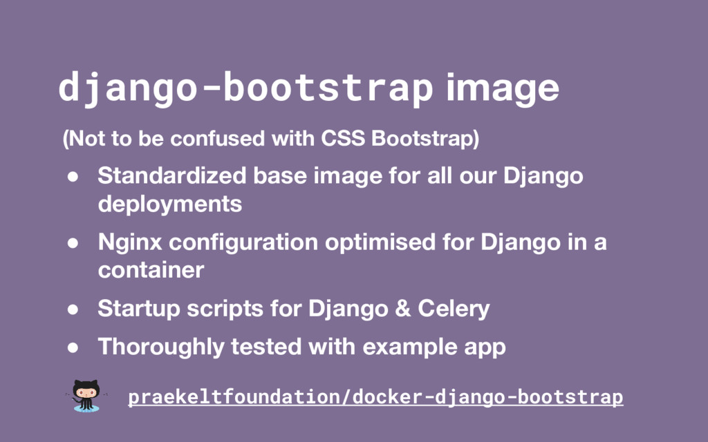 django-bootstrap image (Not to be confused with...