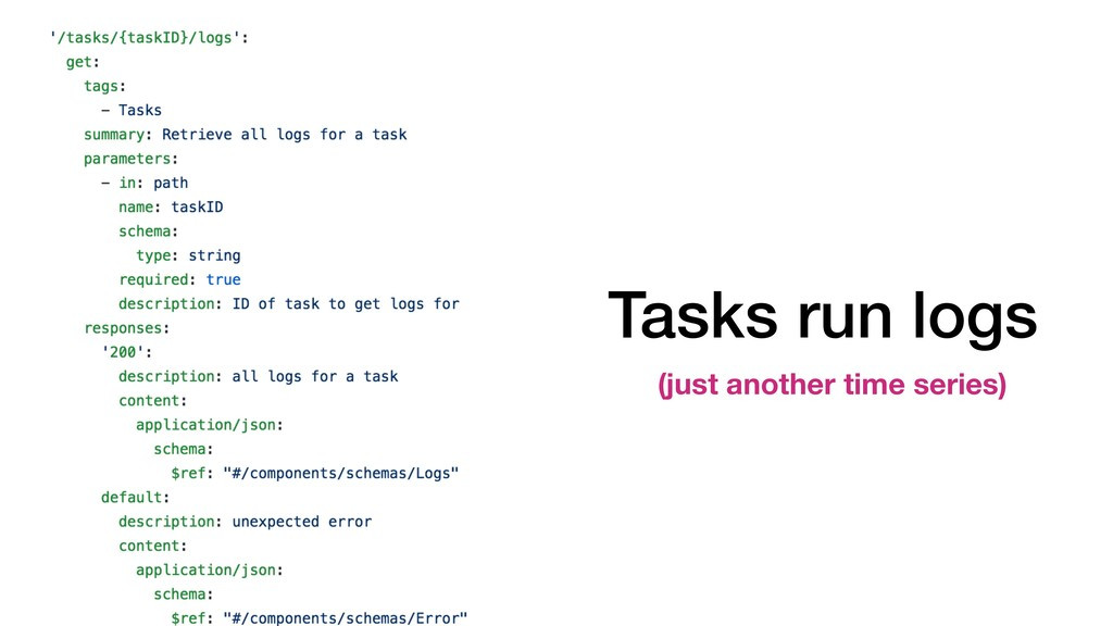 Tasks run logs (just another time series)